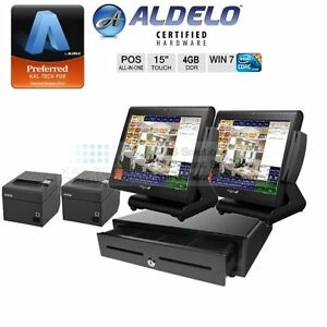 Aldelo Pos Pro Restaurant Bar Pizza 2 Station Pos Package Core I3 4gb Ram