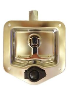 Tool Box Lock T Handle Latch Lock With Two Keys Stainless Steel Polished