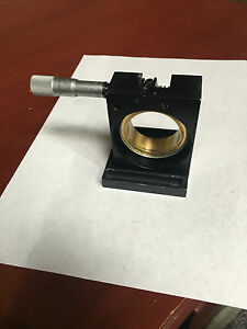 Melles Griot Adjustable Rotation Stage W Newport Sm 15 Micrometer