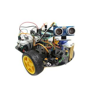 Intelligent Car Robot Kit With Arduino Uno Controller R3 Tracking Obstacle