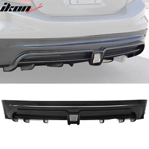 Fits 13 15 Honda Civic Sedan Mugen Rr Style Rear Bumper Lip W Led Brake Light