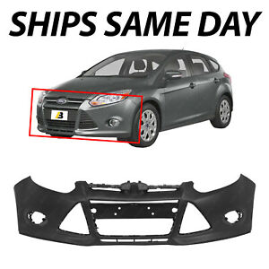 New Primered Front Bumper Cover For 2012 2013 2014 Ford Focus Sedan Hatch