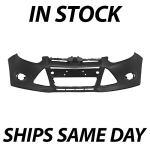 New Primered Front Bumper Cover For 2012 2013 2014 Ford Focus Sedan Hatchfo1