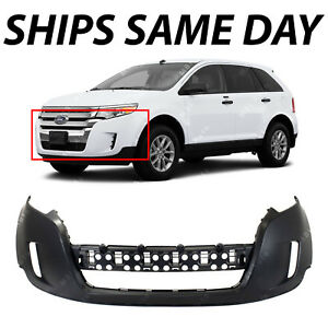 New Primered Front Bumper Cover Fascia Replacement For 2011 2014 Ford Edge Suv
