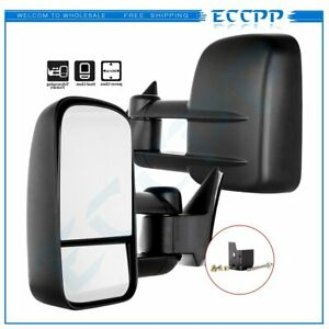 Pair For 1988 1998 Chevy gmc C10 1500 2500 Pickup Truck Power Tow Side Mirrors