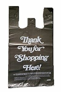 Large Plastic Black Bags 350 Count Extra Heavy Duty 1 6 Grocery Thank You Bags
