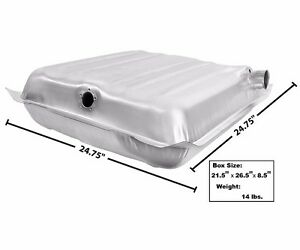 1957 Chevy Bel Air Nomad Two Ten 210 Fuel Gas Tank W Fill Vent Tube Stainless