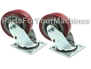 2 Caster Wheels 5 x2 For Tennant 5680 5700 7200 Rider Scrubber Rep 222467