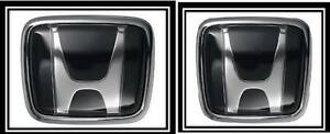 Honda Jdm Hood Trunk Black Emblem Decal Badge Civic Accord Prelude