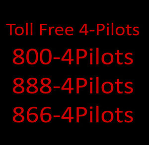 800 Toll Free Numbers 800 4 pilots And 888 4 pilots And 866 4 pilots