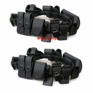 2x Police Security Guard Modular Enforcement Equipment Duty Belt Tactical Nylon