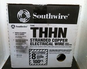 Southwire 20489133 Type Thhn Stranded Copper Electrical Wire 100 White F s