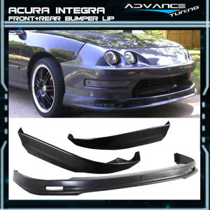 Fit For 98 01 Acura Integra Pu Mugen Style Front Rear Bumper Lip Bodykit