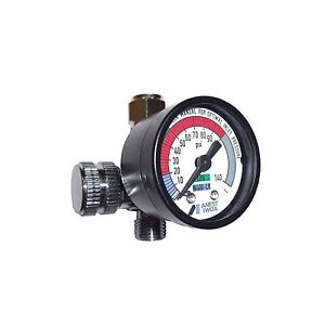 Iwata 8130b Air Adjustment Valve With Gauge Paint Spray Gun Regulator