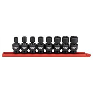 Gearwrench 3 8 Drive 6 Point Sae Universal Impact Flex Socket Set