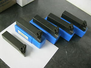 Lot Of 5 Indexable Lathe Tool Holders 1 25 x6 Mdjnl 20 5 D W Dsn 533 Shim Seat