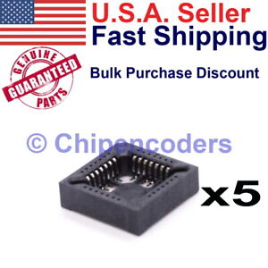 5 Pieces Plcc28 28 Pin Smt Smd Socket Adapter Plcc Converter