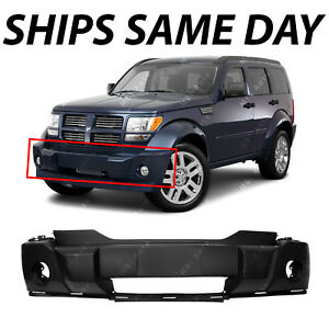 New Primered Front Bumper Cover Replacement For 2007 2011 Dodge Nitro W Fog