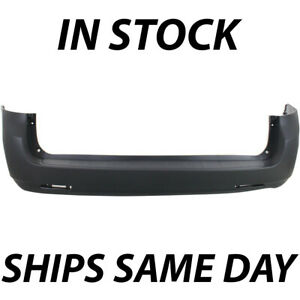 New Primered Rear Bumper Cover For 2011 2018 Toyota Sienna Van W O Park Assist