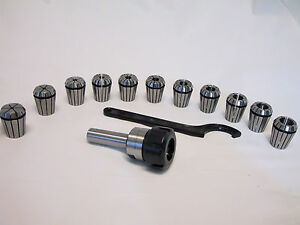 New List Sale 3 4 Straight Shank Er32 Chuck With 11 Pc Collets Set