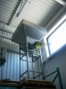 Vibratory Cap Feeding System With Large Hopper Stainless Steel Construction