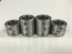 50pcs 1 2 Inch Stainless Steel Shaft Collar Solid Set Screw Ssc 050