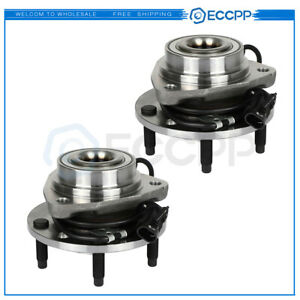 2 Front Wheel Bearing And Hub Assembly For 98 04 Chevy Blazer S10 Gmc Sonoma
