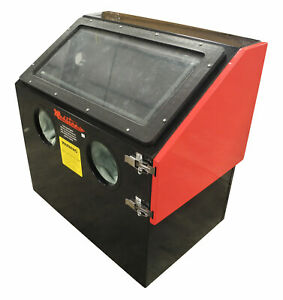 New Redline Re28 Benchtop Abrasive Sand Blaster Blast Cabinet Glass Bead Media