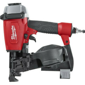 Milwaukee 1 3 4 In Pneumatic Coil Roofing Nailer 7220 80 Reconditioned