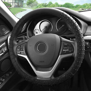 Silicone Steering Wheel Cover Nibs Sturdy Massage Grip Black For Auto