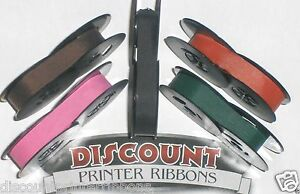 Typewriter Ink Ribbon New Colors Pink Purple Red Green Black Ink Ribbons 5pk
