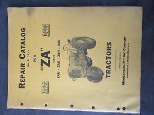 Minneapolis Moline Za Tractor Repair Catalog