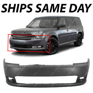 New Primered Front Bumper Cover Replacement For 2013 2018 Ford Flex Suv 13 18
