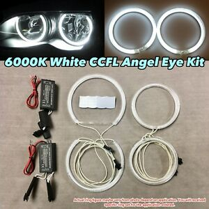 Xenon White 6000k Ccfl Angel Eye Halo Ring Kit For 00 03 E46 Coupe W Projector