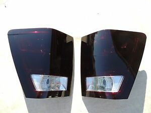 05 06 Grand Cherokee Smoked Tail Lights Black Non Led Tinted Custom Oem