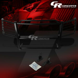 Black Mild Steel Front Grille grill Guard cladding Kit For 02 06 Chevy Avalanche