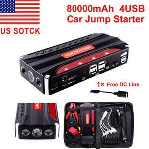 80000mah Portable Car Jump Starter Pack Booster Battery Charger Power Bank New
