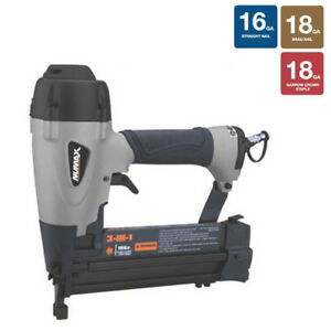 Numax 3 in 1 18 16 Gauge Brad finish Nailer And Stapler Sxl31 New