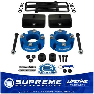 3 Front 2 Rear Lift Kit Diff Drop For 2007 2020 Toyota Tundra Pro Black