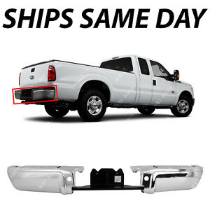 New Chrome Steel Rear Bumper Ends For 2008 2016 Ford Super Duty F250 F350 Truck