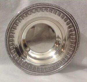Reed Barton 1202 Silverplate Candy Nut Dish Bowl Ornate Design