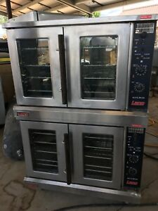 Used Lang Accu Plus Double Stack Electric Convection Oven Ecof ap480v 3 Phase