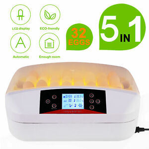 96 Chicken Eggs Incubator Automatic Turner Hatcher Temperature Humidity Digital
