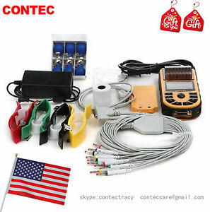 Handheld Single Channel Ecg Ekg Machine With Printer Paper And Usb Software usa
