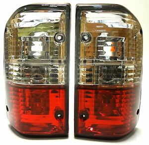 Rear Tail Lights Lamp Set Crystal Red White Fits Nissan Patrol Gr Y60 87 1997