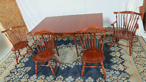 Henkel Harris Dining Room Set Cherry Chairs Table Drop Leaf