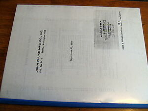 Fluke 885a 885ab Dc Differential Voltmeter Operations Maintenance Manual