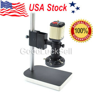 Hd Industry Video Microscope Camera Set Kit C mount Lens Led Light Pcb Soldering