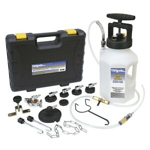 Mityvac Mv6840 Brake And Clutch Pressure Bleeder Pump System Kit With Adapters
