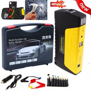 12v 68800mah Portable Battery Jump Starter Air Compressor Car Booster Jumper Ush